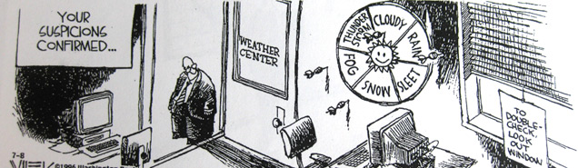 Winter Storm Warning Bring It On Says >> Weather Cartoons, Weather Jokes, Weather Games, Funny Weatherman Comics