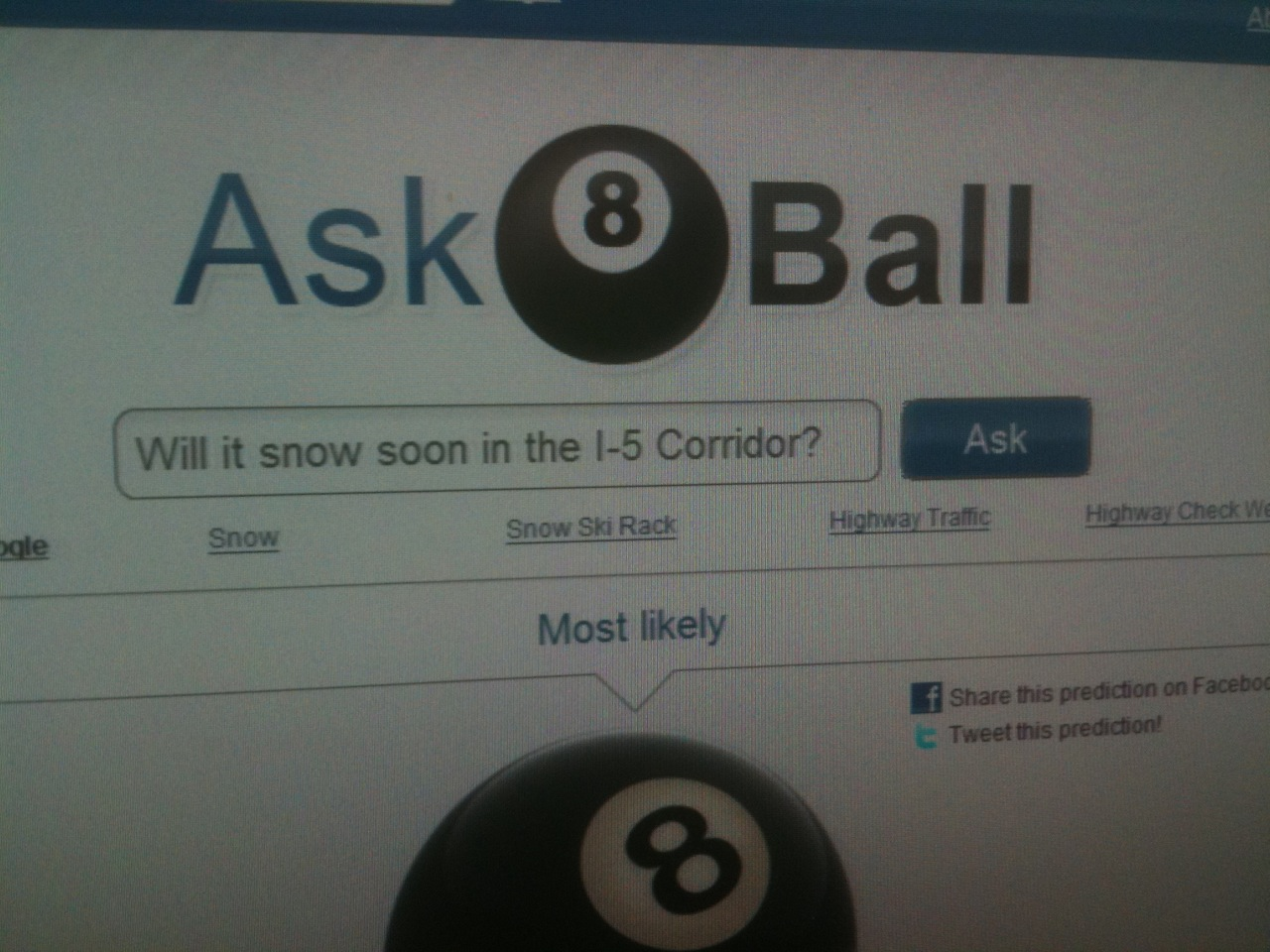 Magic 8 Ball: More Late Winter Snow For Portland And Southwest Washington