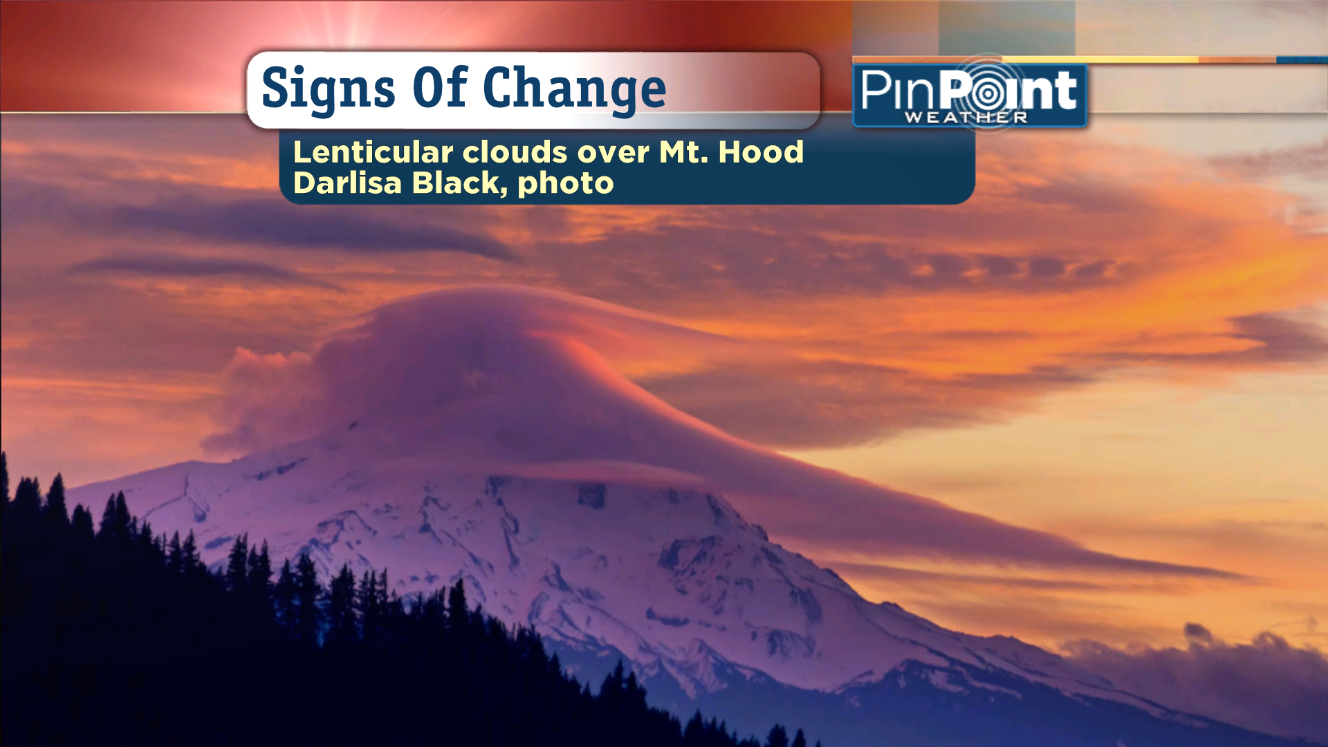 Strange Clouds Over Mount Hood & Mount Jefferson Are Signs Of Changing Weather
