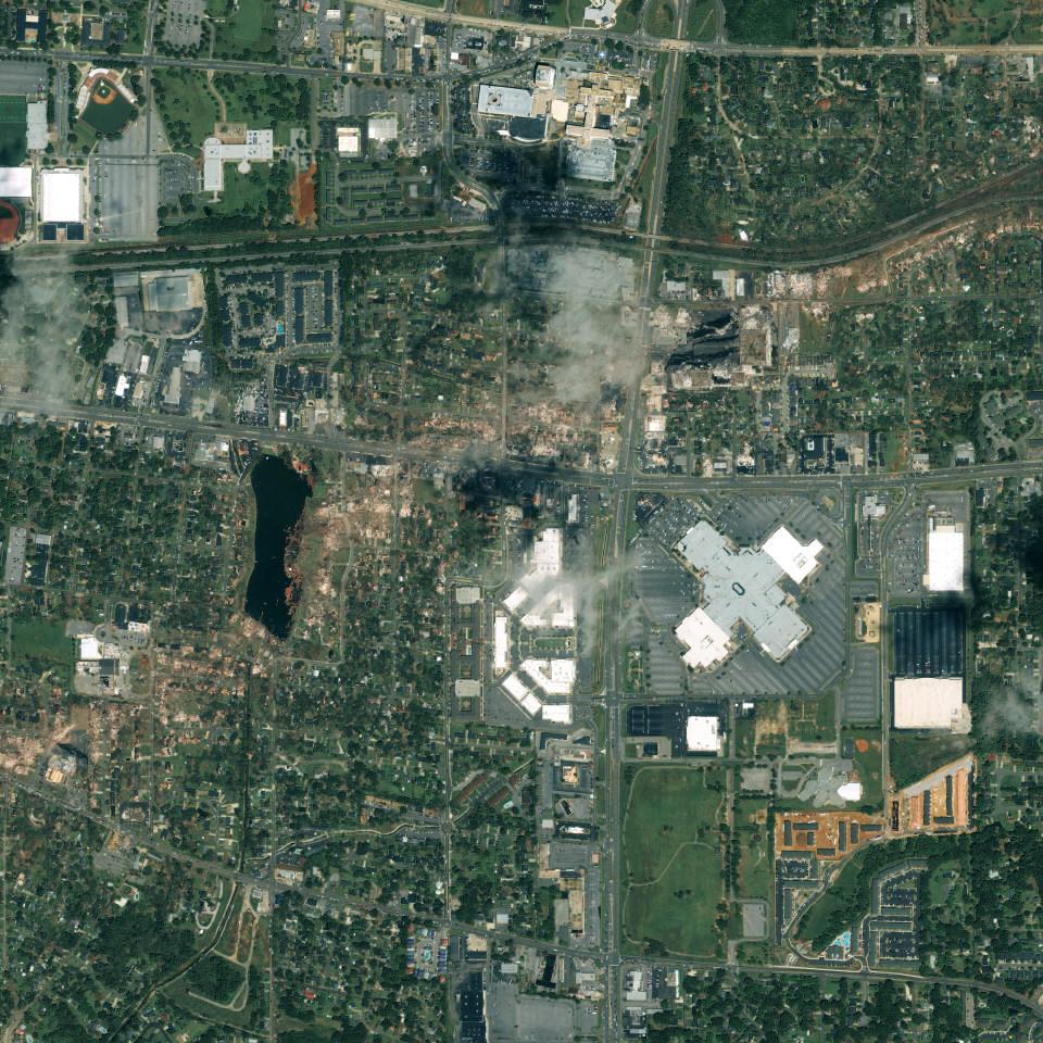 Tuscaloosa, Alabama Tornado Track From Space