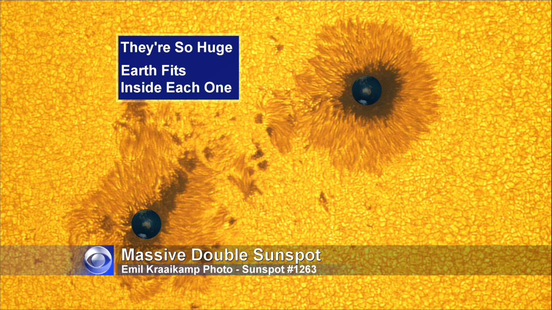Sun Spots So Big, They Could Swallow The Earth