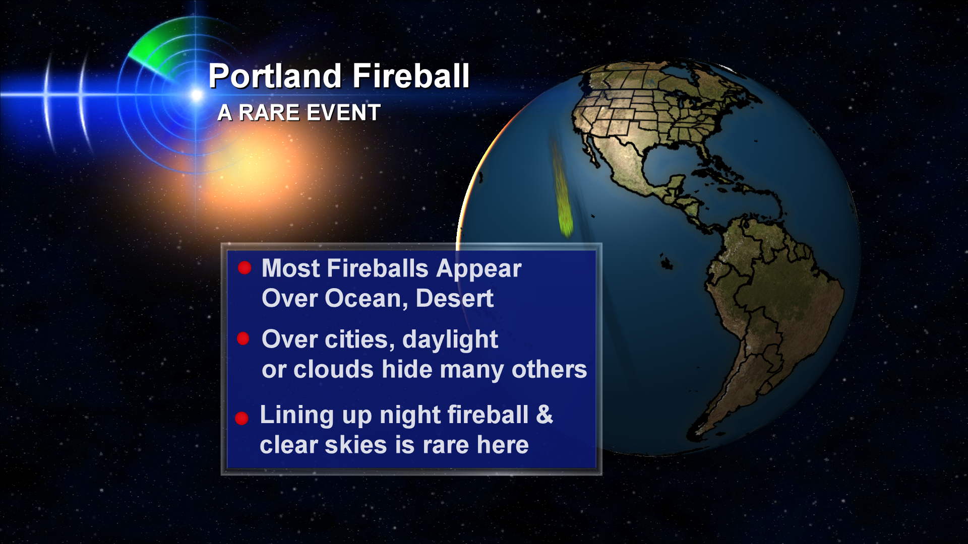 Rare Fireball Seen Above Portland And Vancouver