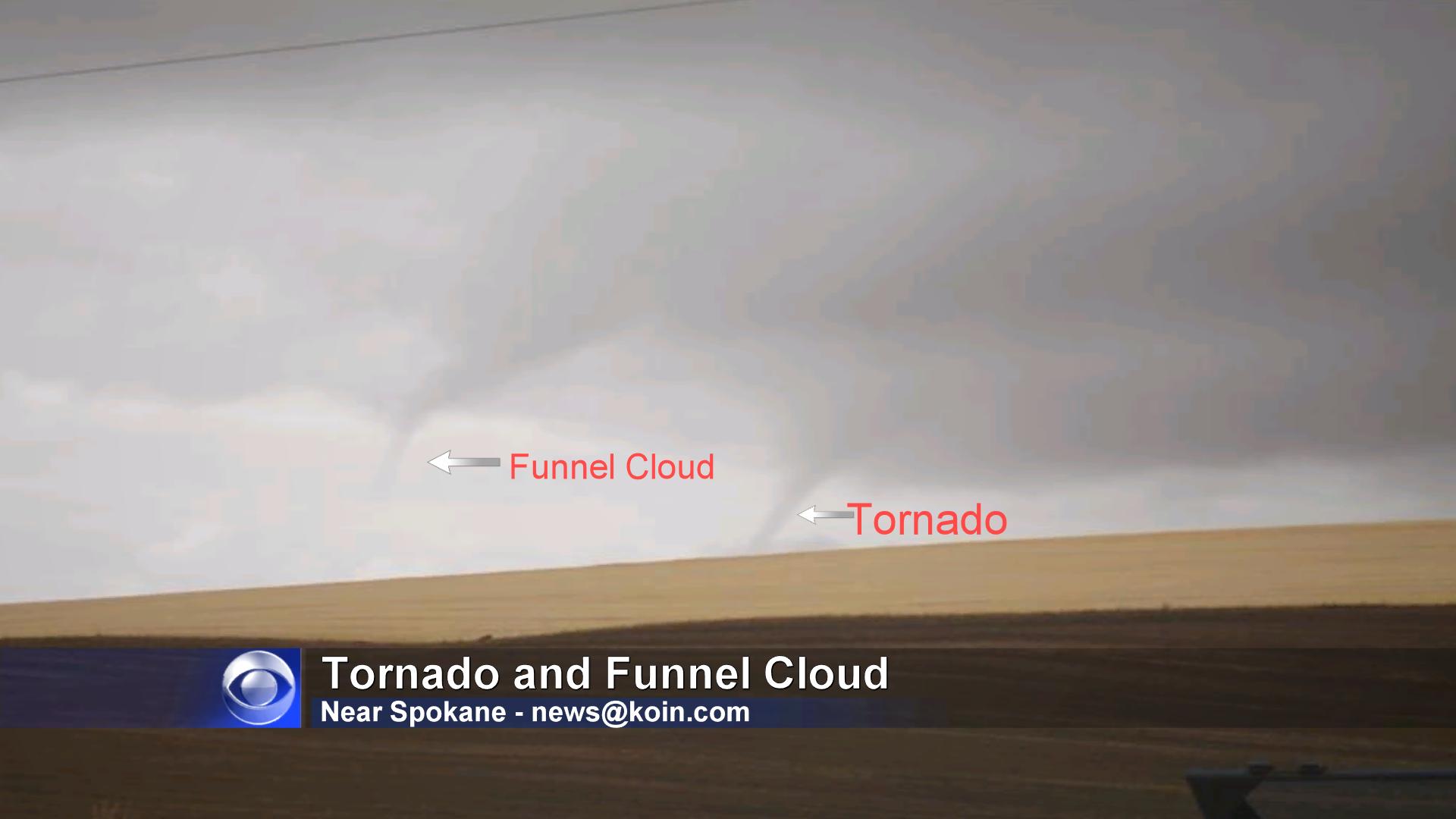 Rare Northwest Tornado Near Spokane, Washington