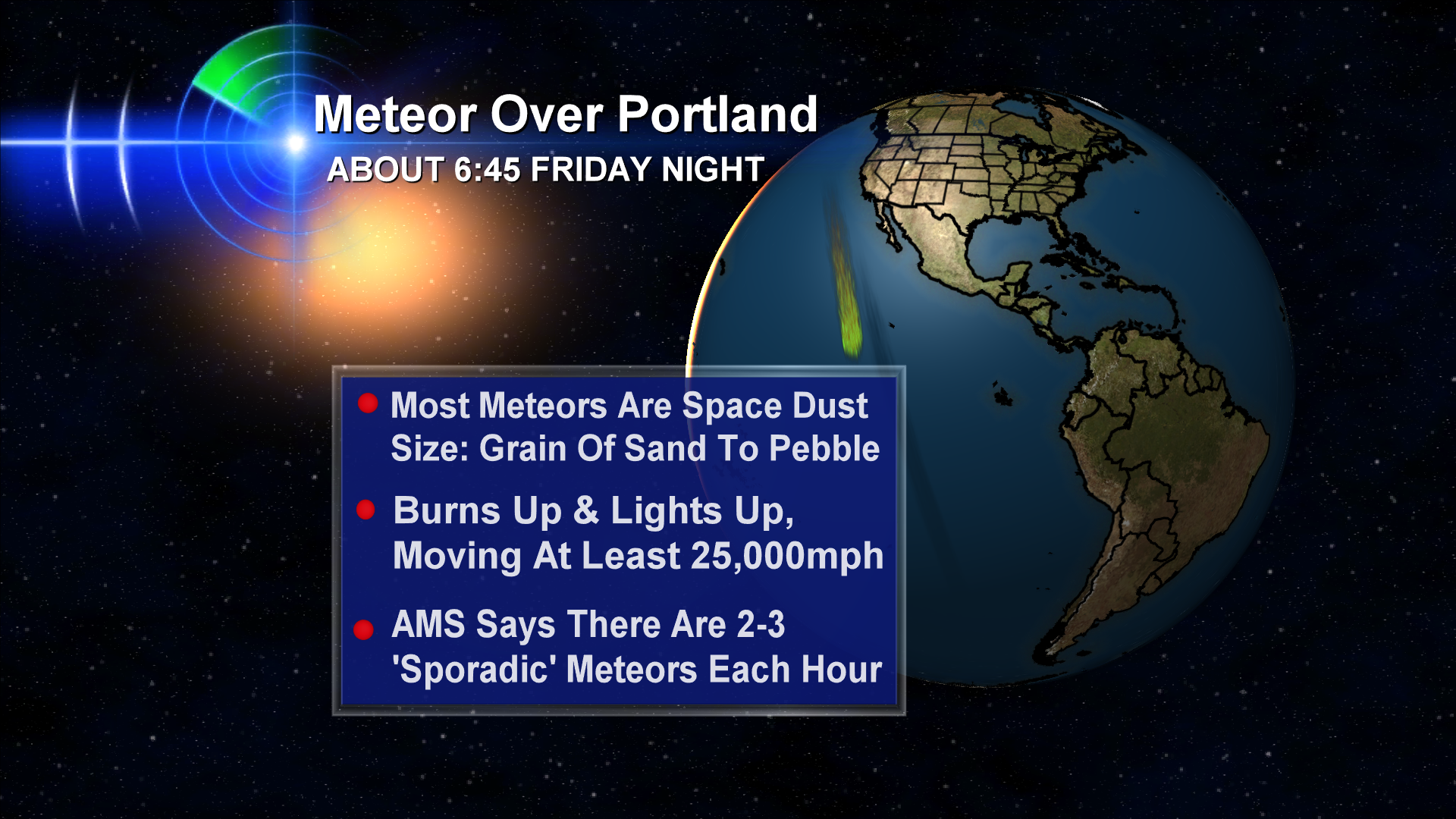 Meteor Streaks Across Portland Area Skies