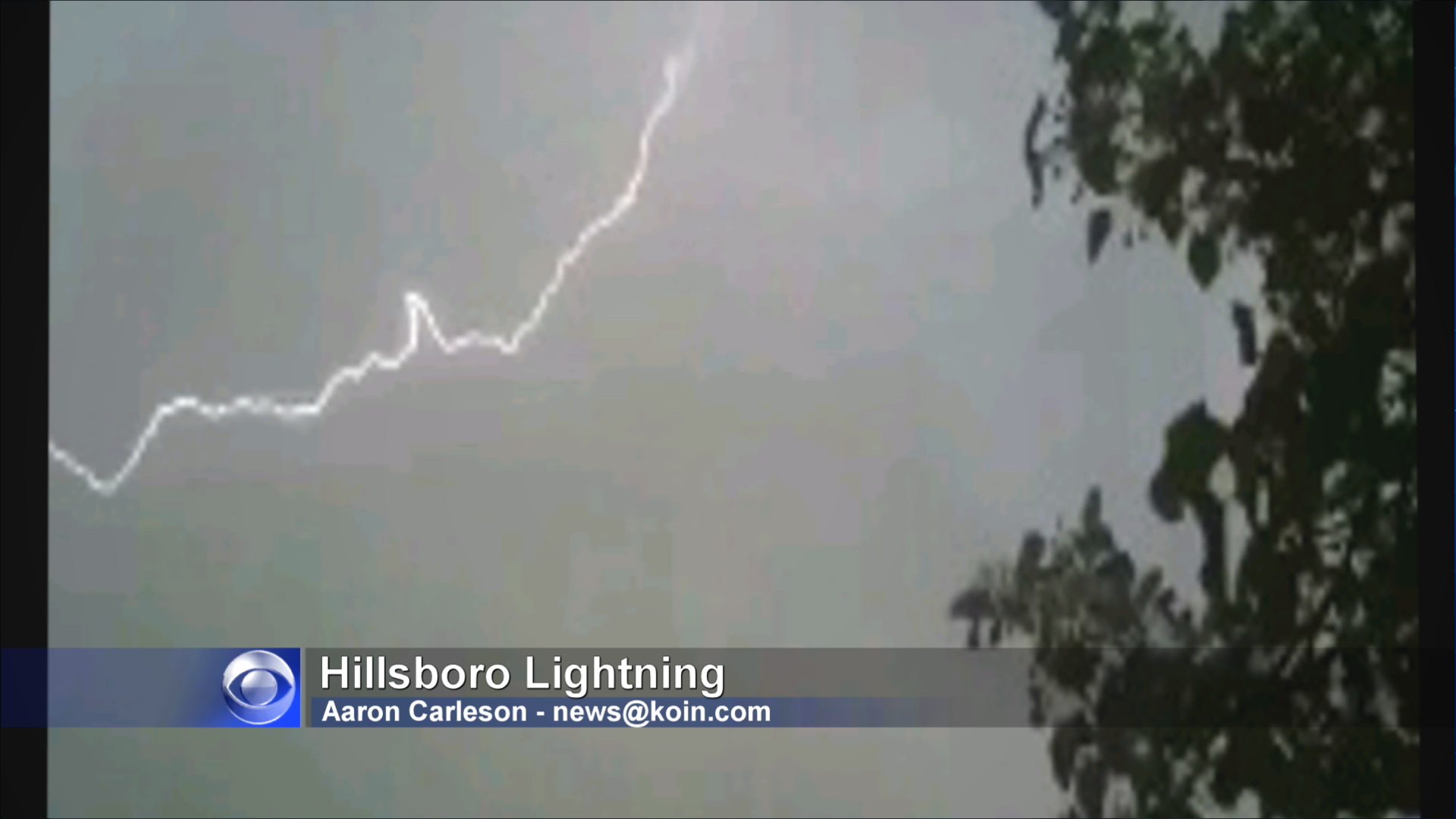 Thunderstorm Hits Beaverton, Newberg, Aloha And Hillsboro