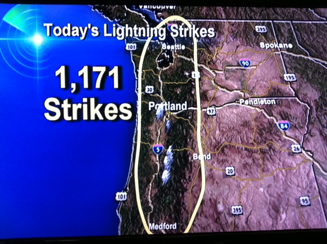 Hundreds Of Willamette Valley Lightning Strikes And One Exploding Tree