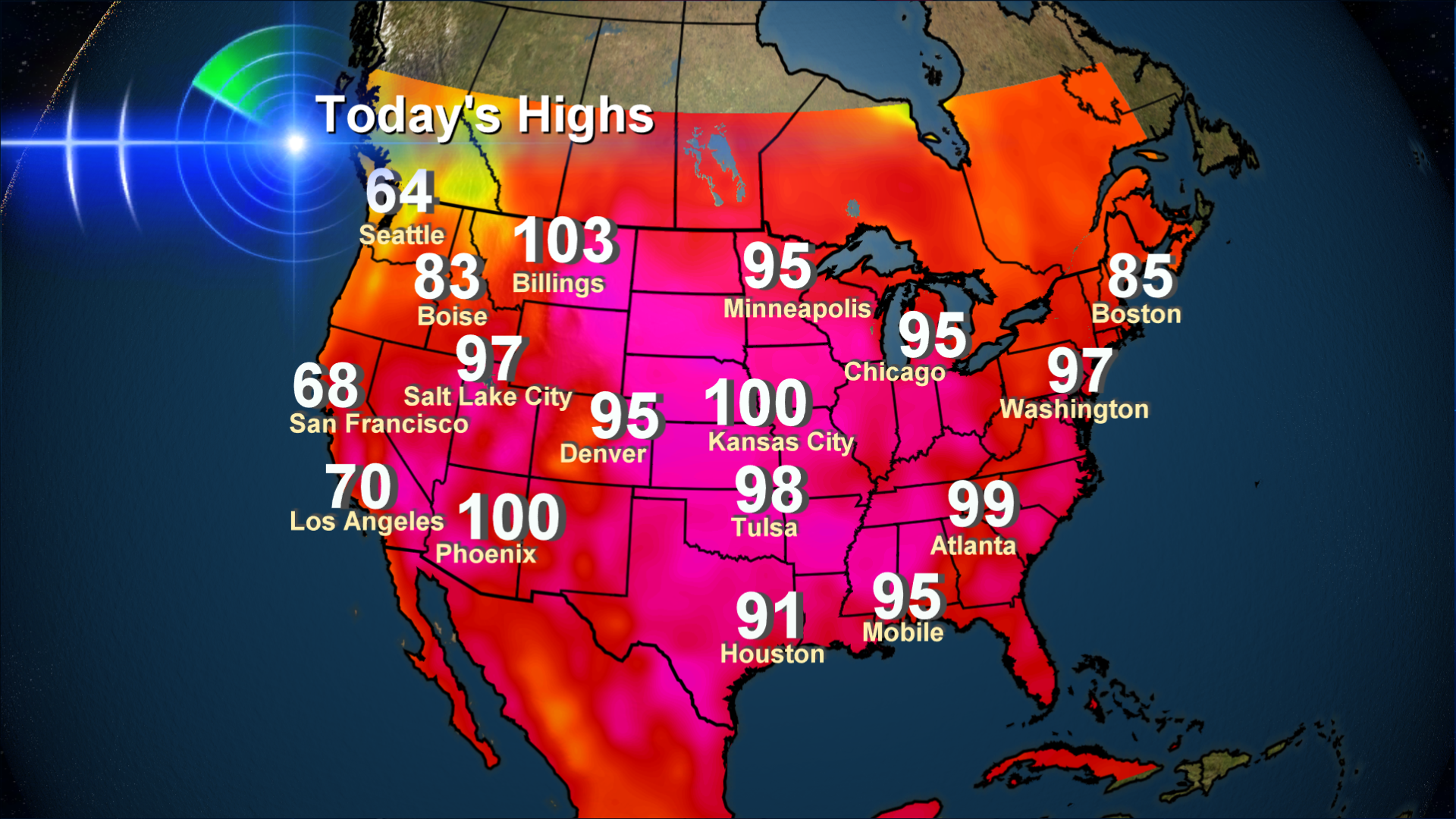 Hotter Than Fireworks: June 2012 Heatwave Everywhere But Oregon And Washington