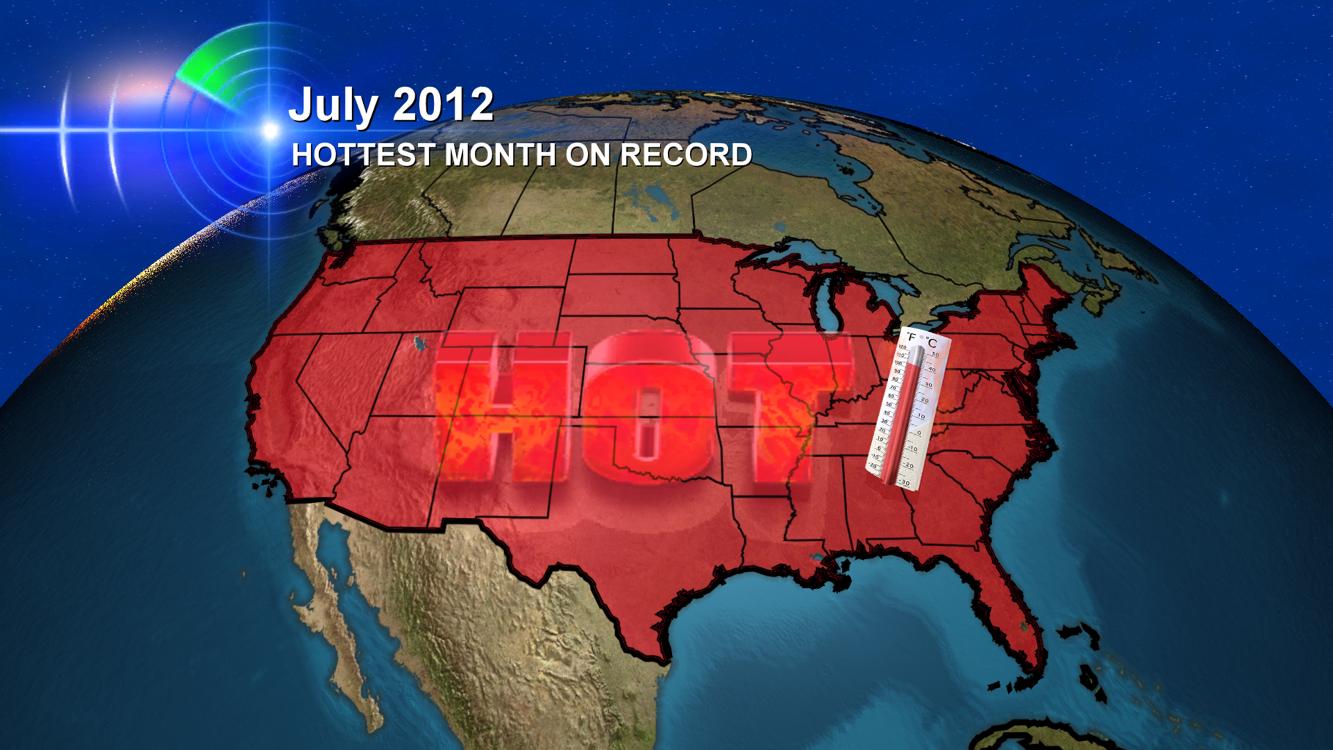 Hottest July On Record Across US Lower  Heat Misses Oregon - Us weather map july