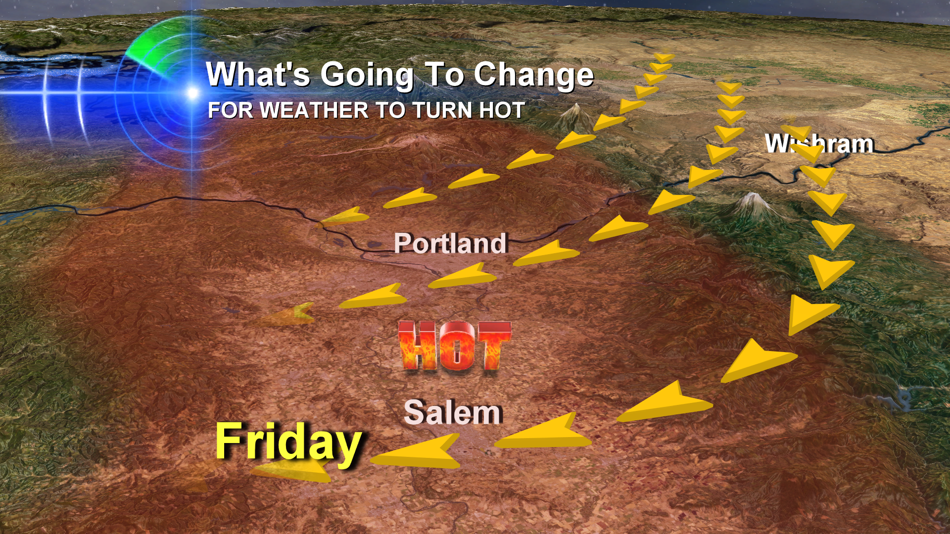Weekend Heat: Flirting With 100 Degrees In The Willamette Valley