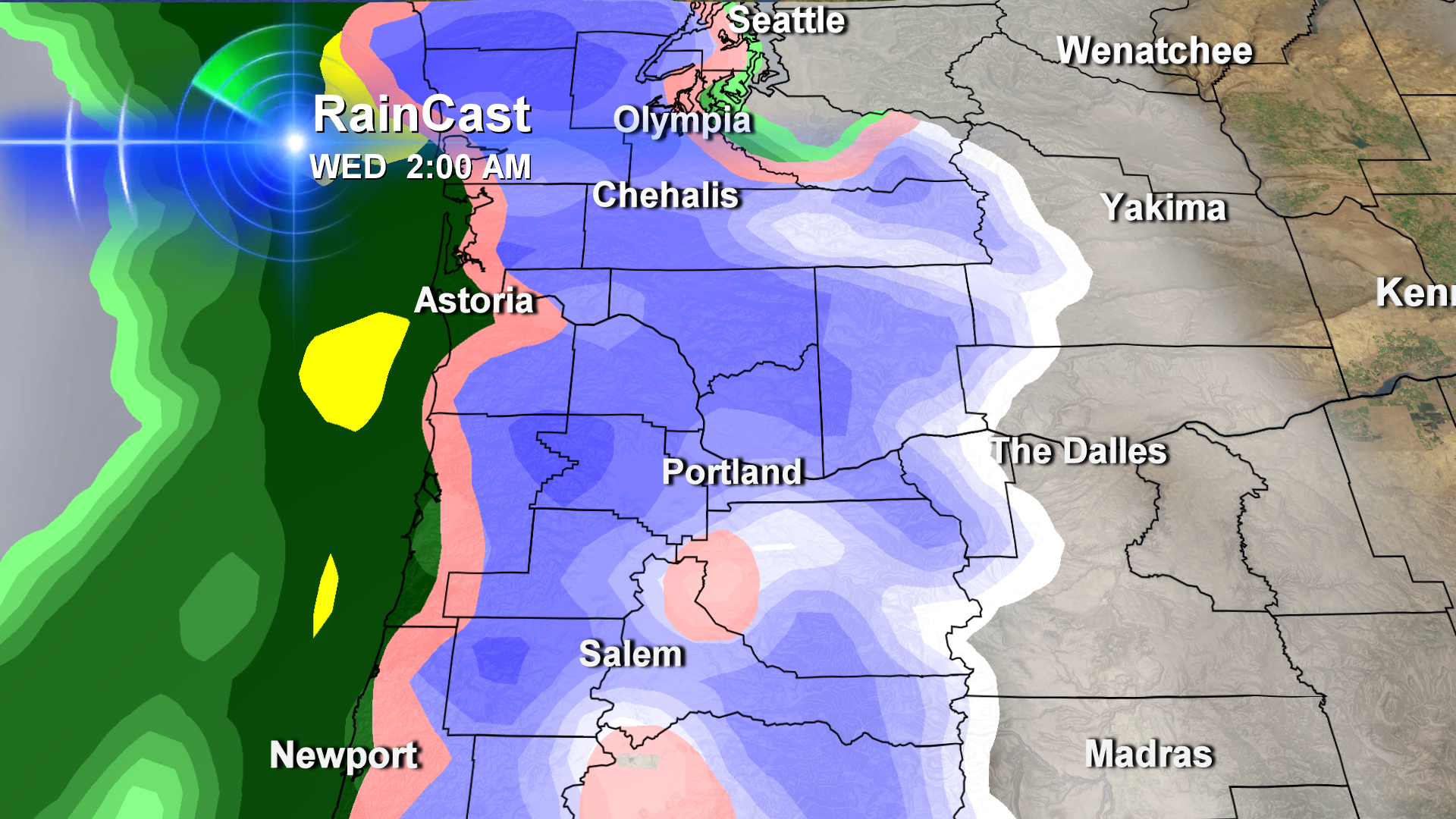 Will Portland Go From Scattered Snow Showers To Solid Snow?