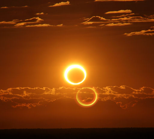 Ring Of Fire From Solar Eclipse, Down Under
