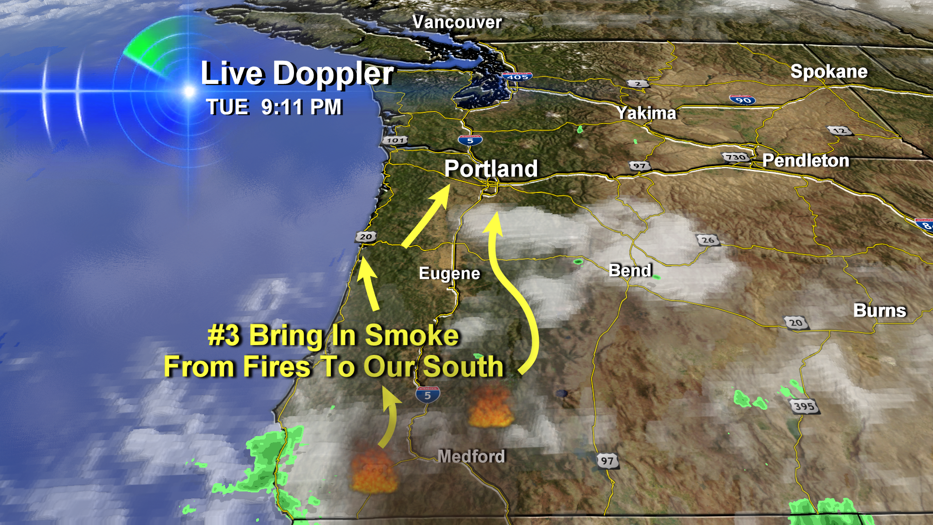 Here Comes The Wildfire Smoke Into Willamette Valley Skies