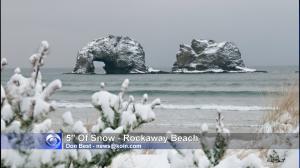 rockaway beach snow