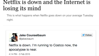 Netflix Goes Down, Everyone Suddenly a Comedian